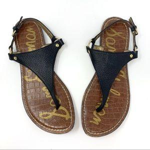 Sam Edelman Black Leather Greta Sandals Size 8.5